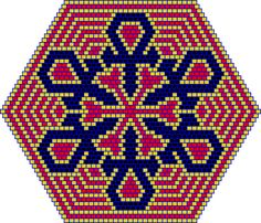 Snowflake Mandala PATTERN, peyote or brick
