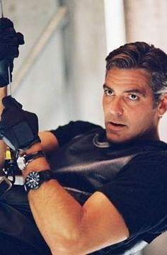 The ever so dapper George Clooney sports a Luminox watch in Ocean's 11.