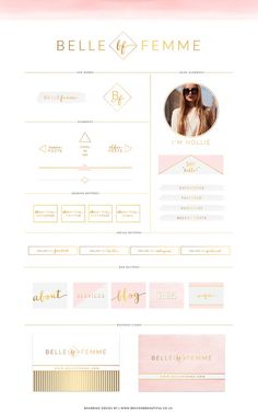 ULTIMATE Branding Kit Blog Kit Website por BrandMeBeautiful