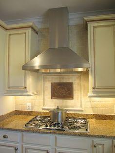 Kitchen backsplash- focal point.. Good idea