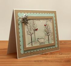 White Chritstmas shaker card