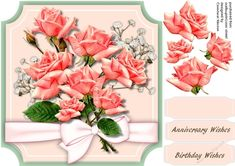 Beautiful Pink roses on Cut-out- May | Craftsuprint