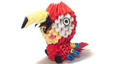 3D+origami+parrot+kid+by+Girnelis+on+Etsy,+$5.00