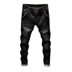 7ba0a725c8d33 Brand Stretch Denim Pants Slim Fit Jeans Men Casual Biker Denimheavengifs