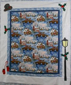 Add borders to a winter scene & applique images from the scene into the borders.