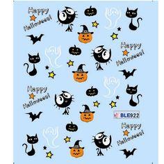 Cute Halloween nail decals  @BornPrettyStore, 1 Sheet Nail Art Water Decals Halloween Theme... at USD $2.86. http://www.bornprettystore.com/-p-8679.html
