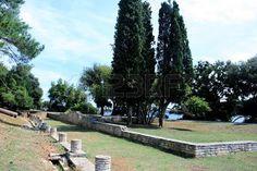 remainigs or roman empire in national park Brioni, Croatia