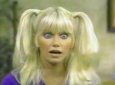 Chrissy Snow in Three's Company (played by Suzanne Sommers) Chrissy Snow, Joanna Pettet, Imagine Song, Suzanne Pleshette, Top Tv Shows, Comedy, Victoria Principal, Yvonne Craig, Suzanne Somers