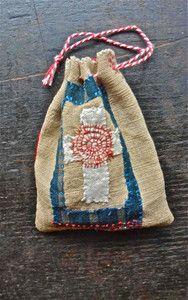 hand-stitched drawstring bag ~junko oki