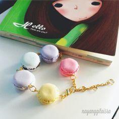 pastel macaron bracelets! so beautiful