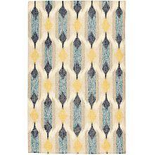 Buy west elm Teardrop Ikat Kilim Rug, Blue Online at johnlewis.com