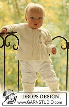 """Ravelry: b18-10 Jacket and socks in moss st in """"Merino Extra Fine"""" pattern by DROPS design"""