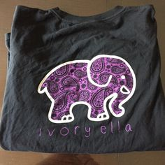 Ivory Ella (one of a kind) Authentic Black & Purple Ivory Ella Shirt Paisley Print  One of a kind - was custom made for me  Size: medium No front elephant (was never a fan)  Comes with wash tag and wrapped in twine :) WOULD PREFER TO SELL ON Ⓜ️ FOR CHEAPER! Ivory Ella Tops Tees - Long Sleeve