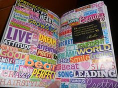 Magazine words...this is one of my favorite things to do.  I don't know why!  Super fun.