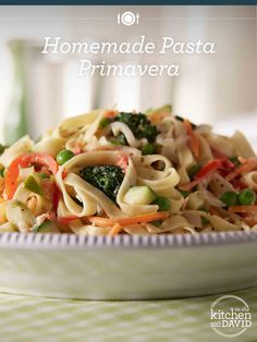 This homemade pasta primavera is the perfect summer dish!
