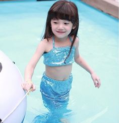 Now available on our Store Kids Girl Mermaid... Check it out! http://pinkonate.com/products/kids-girl-mermaid-tail-costume-for-swimming-monofin-capable-sea-maid-fantasia-ariel-princess-bikini-swimsuit-children-dress