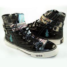 Christian Audigier Women Highrise Shoes 'Strapdown' (38FSP101W) - http://on-line-kaufen.de/christian-audigier/christian-audigier-women-highrise-shoes