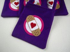 Doc McStuffins Felt Favor Bags - set of 4. $15.00, via Etsy.