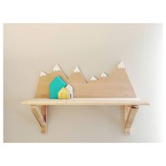 Mountain shelf for nursery  mountain theme baby boy