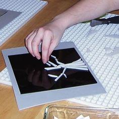 Designing fused glass.