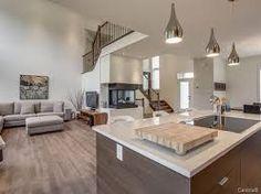 18 meilleures images du tableau aire-ouverte | Living room kitchen ...
