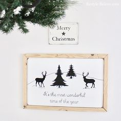 DIY Christmas Sign - It's the Most Wonderful Time of the Year