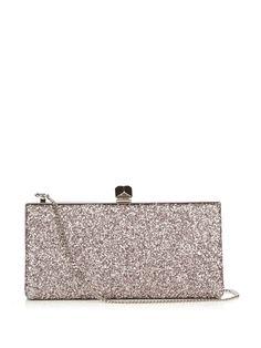 8891280a3f JIMMY CHOO Celeste Small Glitter Clutch. #jimmychoo #bags #clutch #shoulder  bags #crystal #lining #hand bags #silk #glitter #