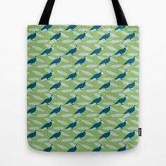 Californian Quail and home-grown sage Tote Bag by Emma Makes. $22