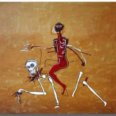 Jean-Michel Basquiat (American, 1960 – began as a graffiti artist in New York City in the late and in the produced Neo-expressionist painting. Basquiat died of a heroin overdose at. Jm Basquiat, Jean Michel Basquiat Art, Basquiat Artist, Basquiat Tattoo, Graffiti, Keith Haring, Radiant Child, Pop Art, Gagosian Gallery