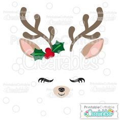 Christmas Reindeer Face SVG Cutting File!  SVG Cut file & Clipart for Silhouette Cameo, Curio, Portrait, Cricut Explore, Cricut Maker, Brother Scan N Cut, Puzzles Inspiration Vue and other craft cutting machines! Perfect for Christmas Ornaments, HTV t-shirt designs, and other Christmas crafts!