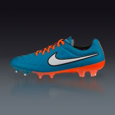 Buy Nike Tiempo Legend V FG - Neon Turq/White/Hyper Crimson/Black  Firm Ground Soccer Shoes on SOCCER.COM. Best Price Guaranteed. Shop for all your soccer equipment and apparel needs.