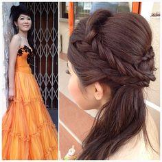 Prewedding makeup & hairdo on the lovely bride Nicole #wedding #hair #braids