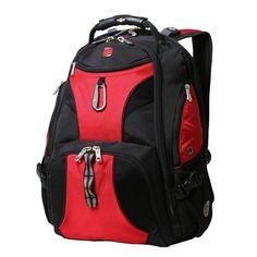 Black and Red ScanSmart Backpack