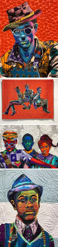 Colorful Quilts by Bisa Butler use African Fabrics to Form Nuanced Portraits African American Artist, American Artists, Harlem Renaissance Artists, Grandeur Nature, Family Photo Album, Colossal Art, Colorful Quilts, Black Artists, Dope Art
