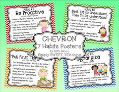 Simply SWEET TEAching: 7 Habits Posters FREEBIE
