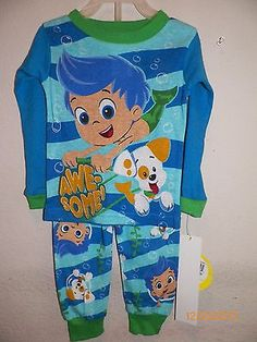 Bubble Guppies Toddler Boys 2 Piece 12 18 24 Months 3T 4T 5T Pajamas Gil  Puppy 516212c3aa0ef