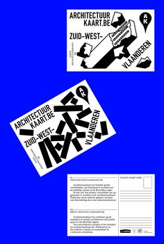 """corbinmahieu: """"two of the three postcard for Architectuurkaart.be — Team…"""