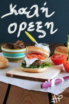 Salmon Burgers, Food Photo, I Foods, Zucchini, Hamburger, Carrots, Greek Quotes, Anastasia, The One