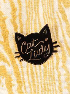 Feline Fellowship Cat Lady Enamel Pin - Buy it at ShopPlasticland.com