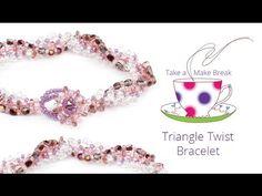 Triangle Twist Bracelet | Take a Make Break with Sarah - YouTube