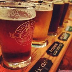 Beer Sampler at the Highland Brewery in Asheville