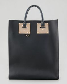 { Signature Leather Tote Bag by Sophie Hulme }