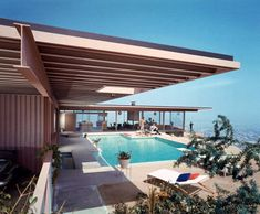 """""""May 9, 1960. Case Study House #22. Stahl residence at 1635 Woods Drive, Los Angeles. Architect: Pierre Koenig."""" Color transparency by Julius Shulman, who died Wednesday in California at age 98. View full size 