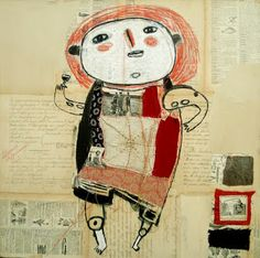 the art room plant: Cecile Perra Scrapbooks, Collages, Creation Photo, Outsider Art, Textile Artists, Mixed Media Collage, Art Plastique, Character Drawing, Graffiti