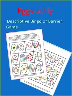 Two activities to develop following multiple step directions and receptive and expressive descriptive vocabulary.  The activity is appropriate for 4th -7th graders.