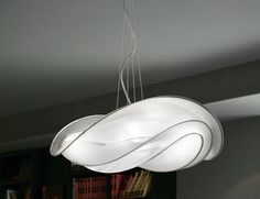 Nella Vetrina Italamp Chips 8120/CH hanging light metal and fabric