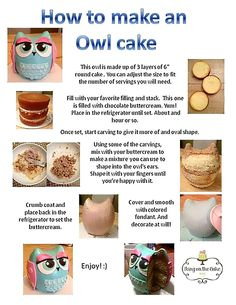 How to make an Owl cake By on the cake