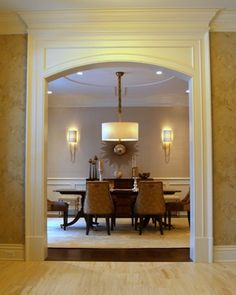 Dining room moldings Reynolds Architecture-