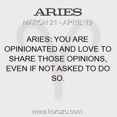 Fact about Aries: Aries: You are opinionated and love to share those... #aries, #ariesfact, #zodiac. More info here: https://www.horozo.com/blog/aries-you-are-opinionated-and-love-to-share-those/ Astrology dating site: https://www.horozo.com
