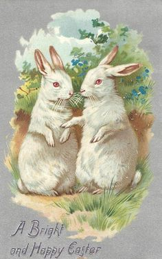 postcard.quenalbertini: Vintage Easter Card | Graphics Fairy